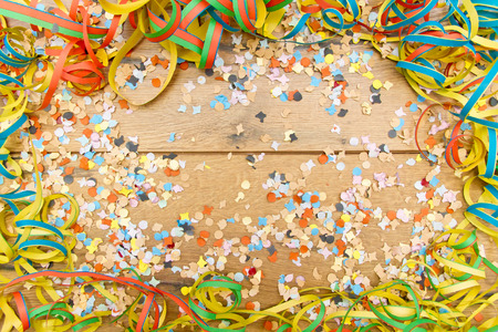 Party background on wood