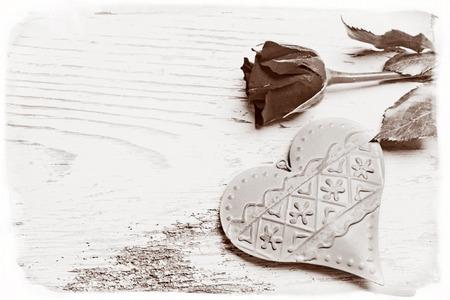 로즈와 하트의 동정 카드 스톡 콘텐츠