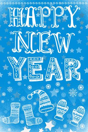 Happy new year card Archivio Fotografico - 119498426