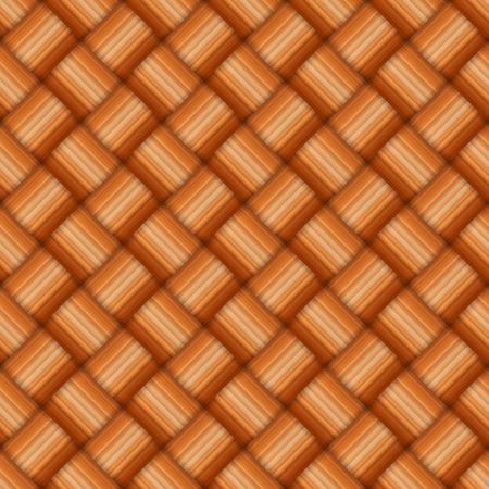 osier: Brown osier woven basket texture pattern. Illustration