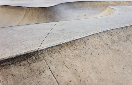 skate park: Empty bowl in a concrete skate park.