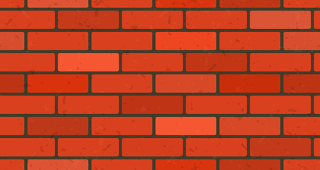 Brick seamless pattern background. Vector wall red brick texture.
