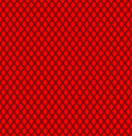 Seamless texture: black guipure on a red background.