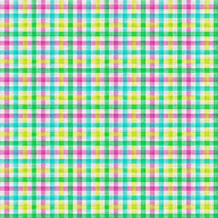 Seamless checkered pattern of multi-colored pastel color. Texture in the form of a fabric.