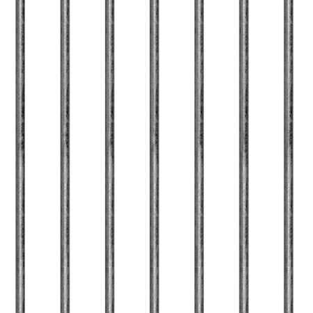 Seamless pattern in the form of an iron lattice. Jail. Steel fencing. Vertical arrangement of rods. Illustration. Banco de Imagens