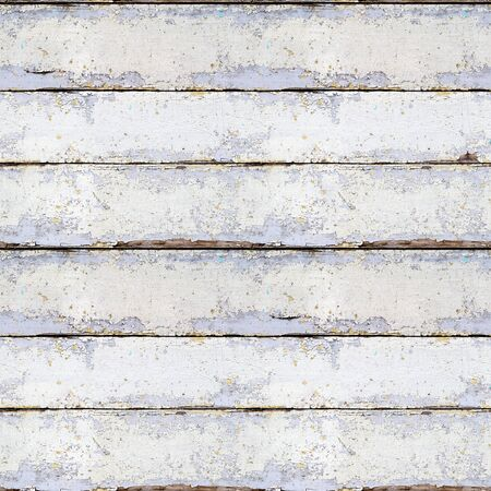 Seamless pattern of old wooden boards with peeling paint. Grunge style. Old decoration.