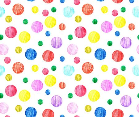 Seamless bright holiday pattern. Colorful confetti. Pencil drawing. Object on a white background. Illustration. Zdjęcie Seryjne
