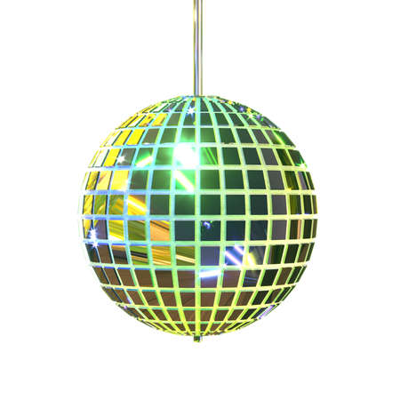 Isolated disco mirror ball. Party accessories. Entertainment industry. 3d rendering. Stock fotó
