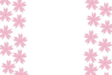 Sakura Symmetric Message Card Фото со стока