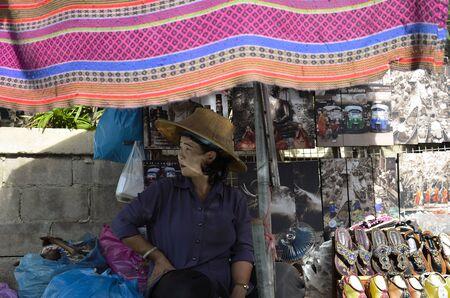 floating market: Female Floating Market. Ratchaburi, Thailand.