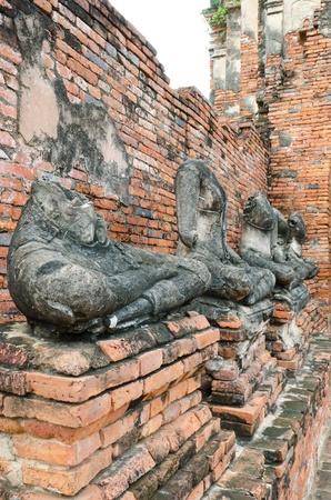 impressive:  buddha image in ancient temple, ayutthaya, thailand Stock Photo