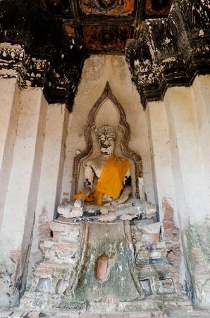 Buddha Statue in Ayutthaya of thailand photo