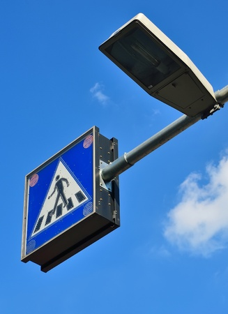 traffic sign, pedestrian crossing photo