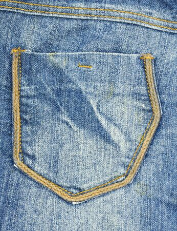 back country: Jeans pocket  Stock Photo