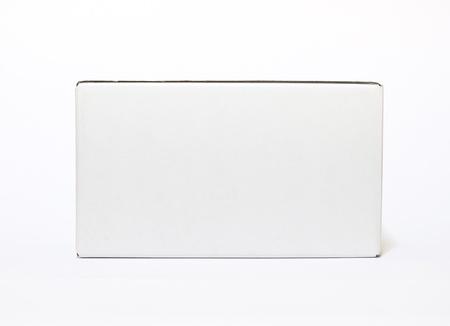 boîte blanche isolée sur fond blanc Banque d'images
