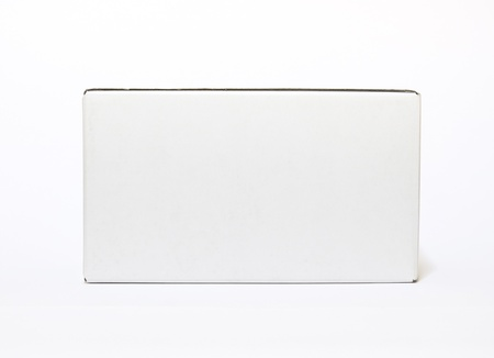 white box isolated on white background