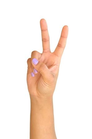 hand symbol two  photo