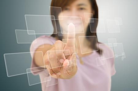 bouton-poussoir main de nombreux Banque d'images
