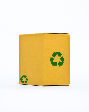 recycle paper box on white background  photo