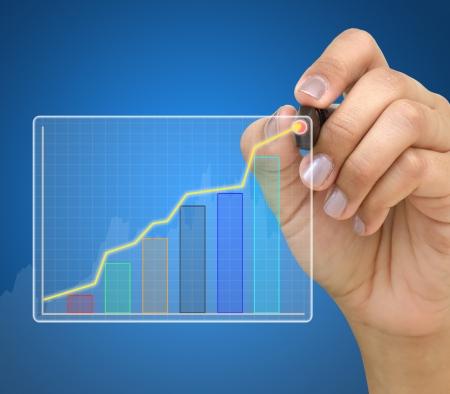 Graphe montrant la main Banque d'images