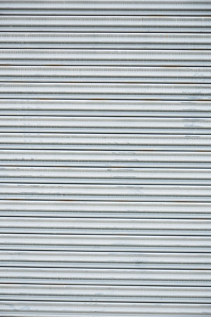corrugated iron: pattern of rustic zinc fence  Stock Photo