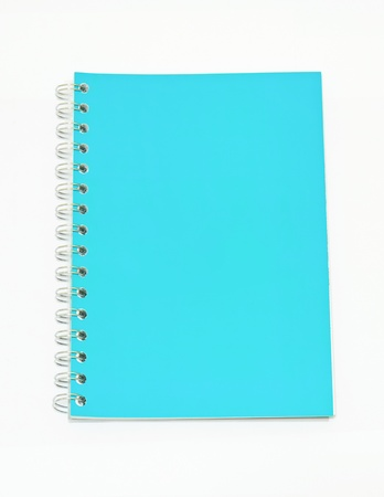 isolated blue notebook on white.  Stock Photo - 11431972