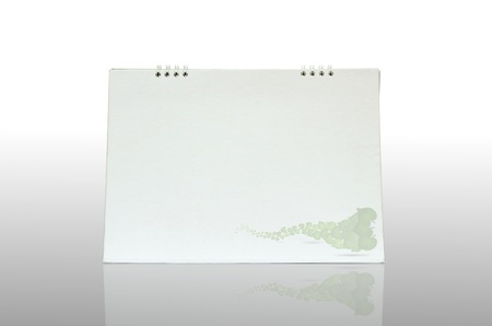 calendario escritorio: Calendario de escritorio en blanco sobre fondo blanco