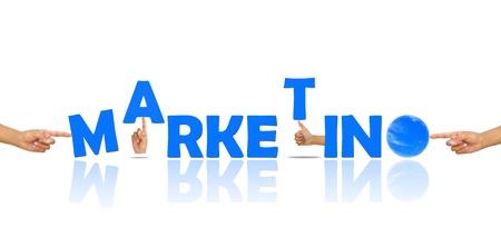 Marketing et de la main