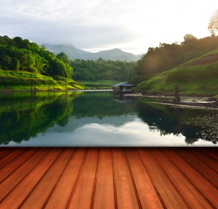 Terrace in the nature  Stock Photo