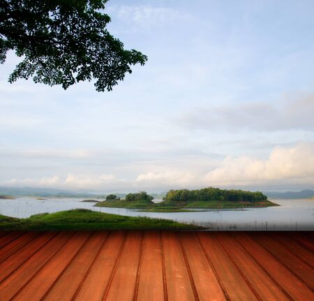 Terrace in the nature photo