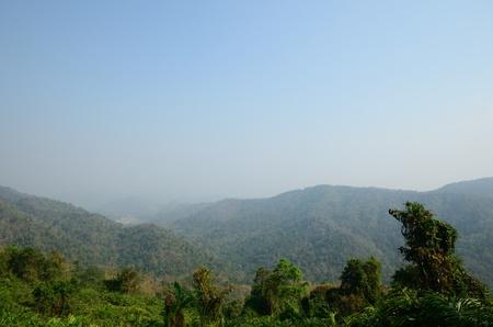 khao: Mountain Khao Yai at view point.