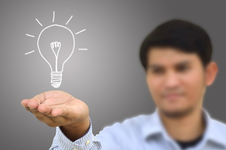Bulb light drawing idea Stock Photo - 12543097
