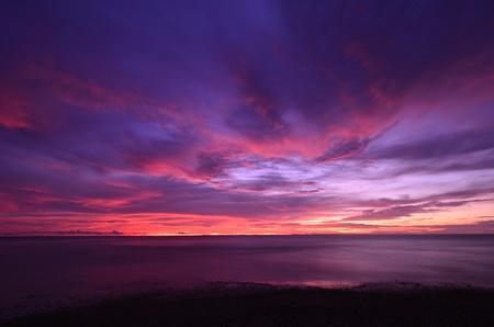sunset twilight on Andaman sea,Thailand  Stock Photo