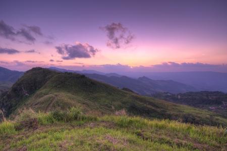 Viewpoint beautiful mountain at  Doi-Pha-Tang  Chiang rai , northern Thailand  HDR Stock Photo - 16931315