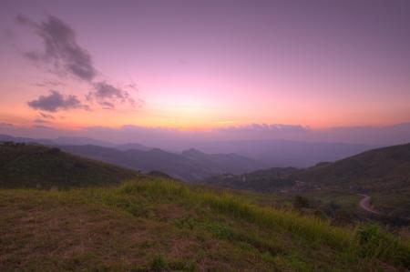 Viewpoint beautiful mountain at  Doi-Pha-Tang  Chiang rai , northern Thailand  HDR Stock Photo - 16931132