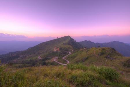 Viewpoint beautiful mountain at  Doi-Pha-Tang  Chiang rai , northern Thailand  HDR  Stock Photo - 16931211