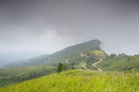 Viewpoint beautiful mountain at  Doi-Pha-Tang  Chiang rai , northern Thailand  HDR Stock Photo - 16931206