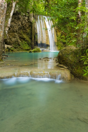 erawan: Erawan Waterfall Stock Photo