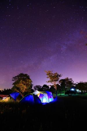 Camping sous la Voie Lactée