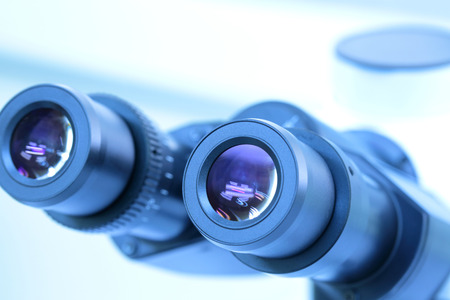 high scale magnification: Microscope eyepiece