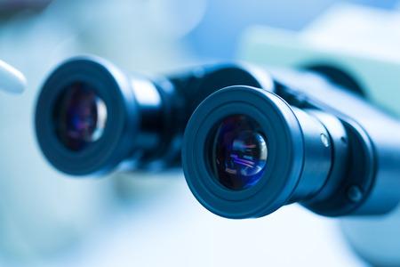 eyepiece: Closeup of the eyepiece of a modern hi-tech microscopeCloseup of the eyepiece of a modern hi-tech microscope