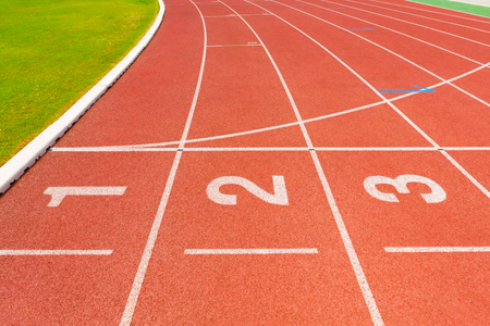 level playing field: Running track