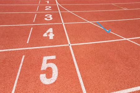 pista de atletismo: pista roja que