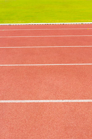 red running track photo