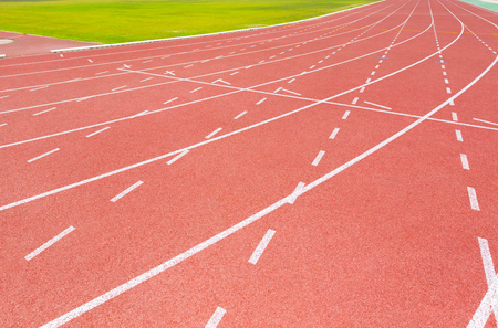 pista de atletismo: pista roja