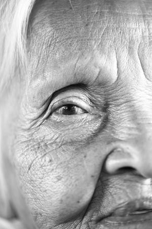 Portrait of senior asian woman photo