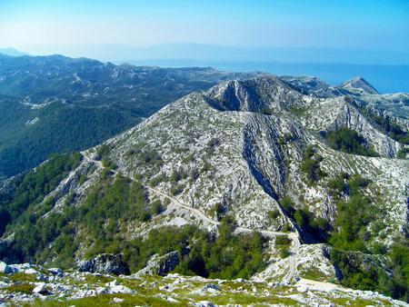 pinnacle: National Park Biokovo, St. Yuri pinnacle Stock Photo