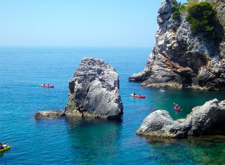 Adriatic sea, travel in kayak