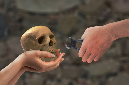 Concept - the Middle Ages, dentist training material