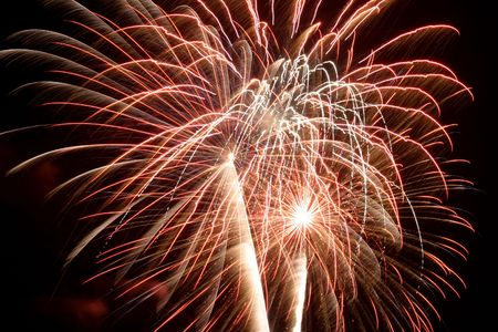 panoply: 4th of July fireworks Stock Photo